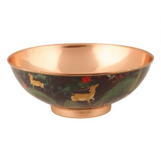 India Circus Forest Fetish Copper Bowl