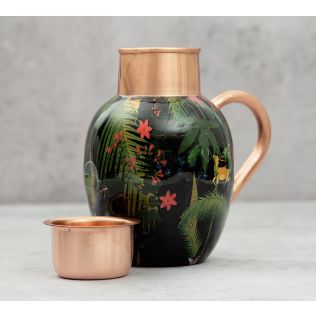 India Circus Forest Fetish Copper Jug Set