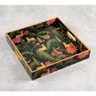 India Circus Forest Fetish Square Tray