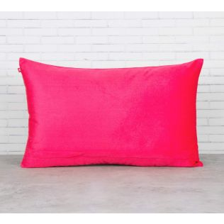 India Circus Fuchsia Palmira Blended Velvet Cushion Cover