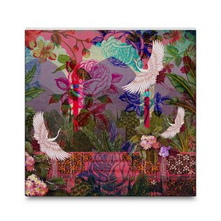 India Circus Garden Fantasy 16x16 and 24x24 Canvas Wall Art