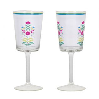 India Circus Garden of Eva Wine Glasses Set of 2