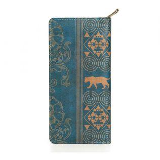 India Circus Geometrical Empress Blue Travel Wallet