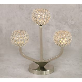 India Circus Globe Crystal Candle Holder