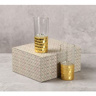 India Circus Gold Honeycomb Water Glass (Set of 2)