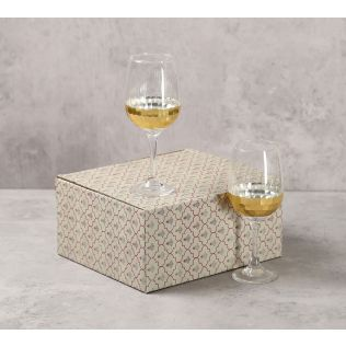 India Circus Gold Honeycomb Wine Glass (Set of 2)