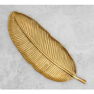India Circus Golden Banana Leaf Big Platter