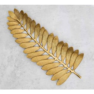 India Circus Golden Palm Leaf Platter