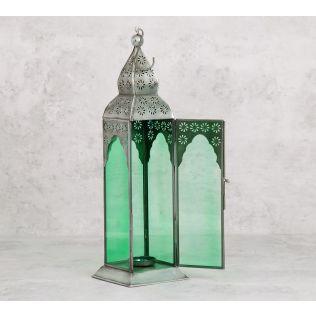 India Circus Green Minaret Candle Lantern