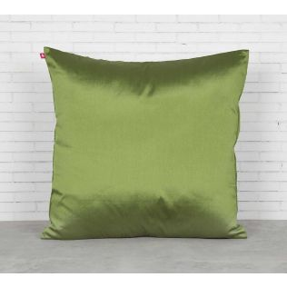 India Circus Green Pucker Satin Blend Cushion Cover