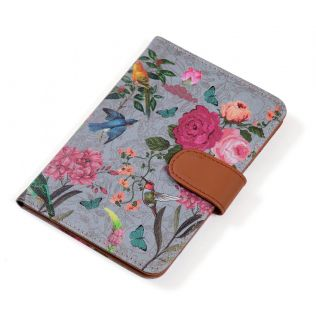 India Circus Grey Bird Land Passport Cover
