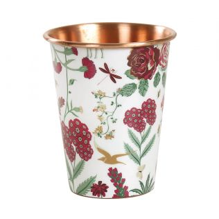 India Circus Grey Floral Galore Copper Tumbler