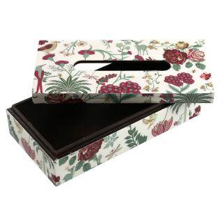 India Circus Grey Floral Galore Tissue Box Holder