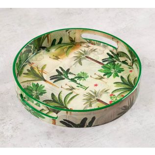 India Circus Heron's Garden Round Serving Tray