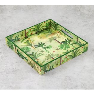 India Circus Heron's Garden Square Tray