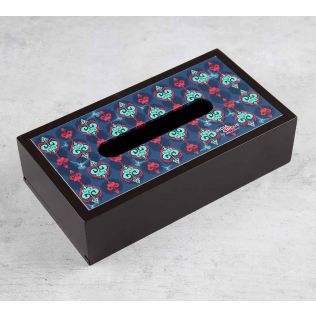India Circus Inverted Spade Arrows MDF Tissue Box Holder