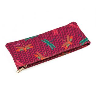 India Circus Jam Chevron Butterflies Small Utility Pouch