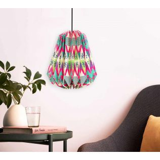 India Circus Lattice Chevron Mystery Paper Lantern