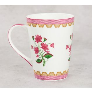 India Circus Lattice Lotus Coffee Mug