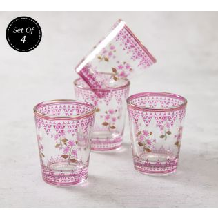 India Circus Lattice Lotus Shot Glass (Set of 4)