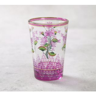 India Circus Lattice Lotus Chai Glass (Set of 4)