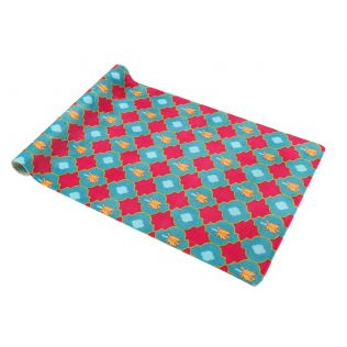 India Circus Lattice Palms Floor Runner