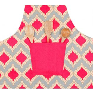 India Circus Lattice Practice Kitchen Apron