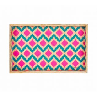 India Circus Lattice Practice Serving Tray