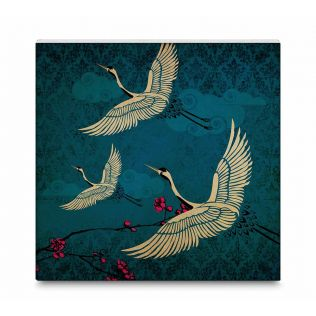India Circus Legend of the Cranes Canvas Mounted Wall Art