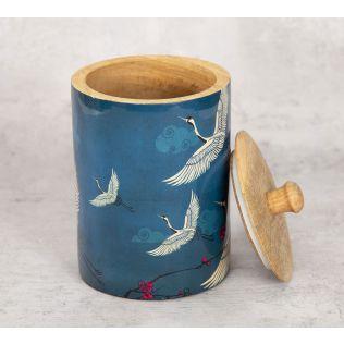 India Circus Legend of the Cranes Medium Wooden Jar