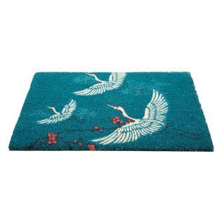 India Circus Legend of the Cranes Teal Doormat