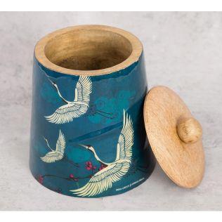 India Circus Legend of the Cranes Wooden Jar