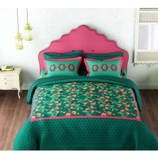 India Circus Floral Faction Bed Sheet Set