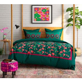 India Circus Floral Faction Bed Sheet Set