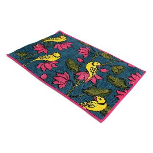 India Circus Lotus Parrots Bathmat