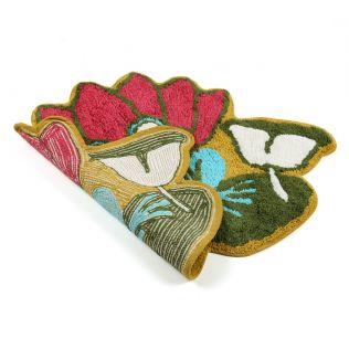 India Circus Lotus Toad Shape Bath Mat