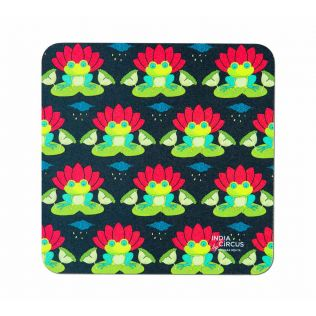 India Circus Lotus Toad Table Coaster