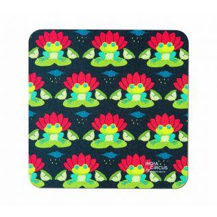 India Circus Lotus Toad Table Coaster