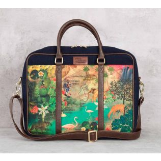 India Circus Mapping Animals Laptop Bag