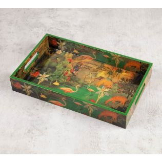 India Circus Mapping Animals Rectangle Serving Tray