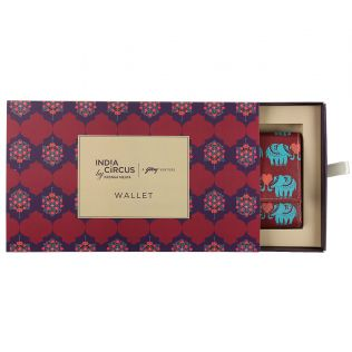 India Circus Maroon Heart Tusker Ladies Wallet