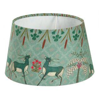 India Circus Mirroring Deer Garden Hexagonal Lamp Shade