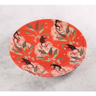 India Circus Monkey Games 8 inch Decorative and Snacks Platter