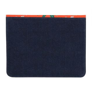 India Circus Monkey Games Denim iPad Sleeve