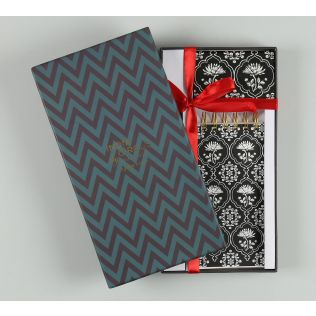 India Circus Monochrome Lotus Reiteration Stationery Combo Set