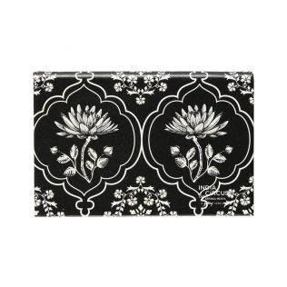 India Circus Monochrome Lotus Reiteration Visiting Card Holder