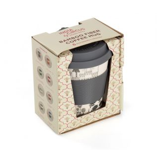 India Circus Monochrome Palatial Courtyard Bamboo Frankie Cup