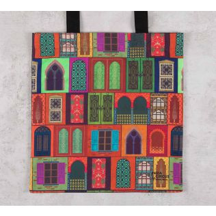 India Circus Mughal Doors Reiteration Jhola Bag