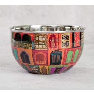 India Circus Mughal Doors Reiteration Serving Bowl