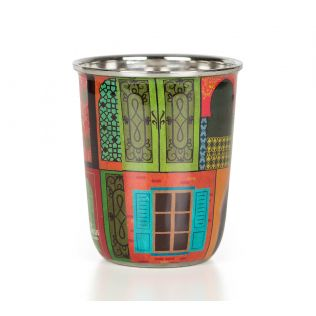 India Circus Mughal Doors Reiteration Small Steel Tumbler Set of 2